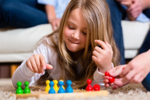 Child playing a tabletop game