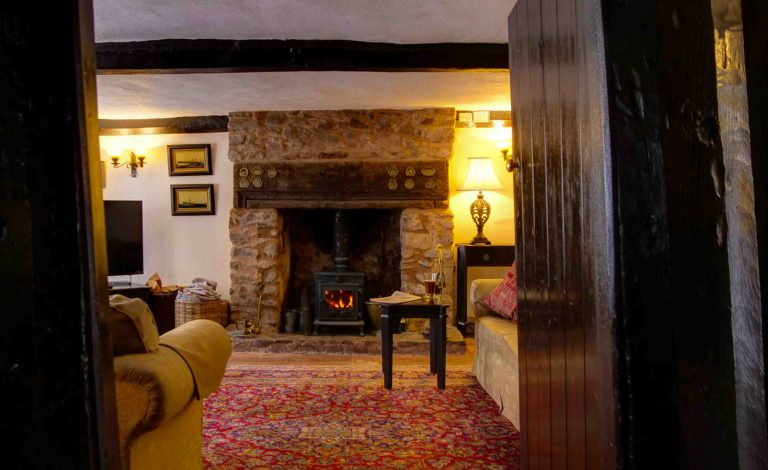 Interior of The Oval holiday cottage in Dunster