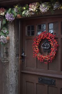 Door wreath at the Oval